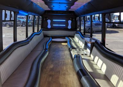 Elite limo Gallery 24 passenger party bus- inside