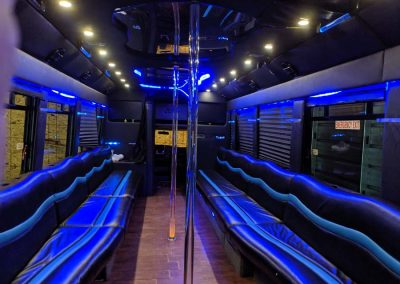 Elite limo- Gallery page- 30 passenger Party Bus- Inside